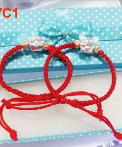 vòng tay đan chỉ may mắn